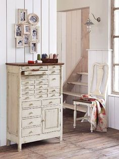 Wonderful vintage dental cabinet, repurposed into a dresser.