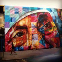 "Mural ""olhar a paz"" em Los Angeles ."
