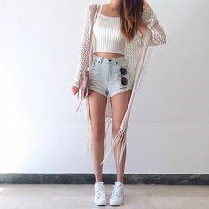 New fashion teenage dresses crop tops 23 ideas stylish in 2019 идеи наряда, Teenager Mode, Outfits Teenager Mädchen, Teenage Outfits, Komplette Outfits, Fashion Outfits, Fashion Trends, Fashion Clothes, Fashion Ideas, Fashion Shoes