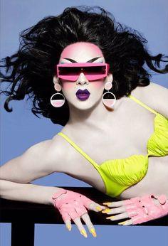 Violet Chachki photographed by Albert Sanchez for Plastik Magazine (x)