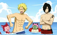Sting and Rogue, gawd they're hot ♥ - Fairy Tail nosebleed* STING AND LECTOR STOPPPPP ITTTTTTT .....
