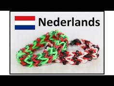 Rainbow Loom Nederlands Armband : Dragon Bone loom bands Bracelet (Eveline Maureen + DIYMommy)