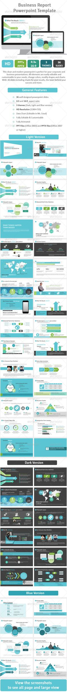Business Report Powerpoint Template by buicuong Powerpoint Examples, Cool Powerpoint, Powerpoint Charts, Ppt Design, Slide Design, Layout Design, Presentation Layout, Business Presentation, Presentation Templates