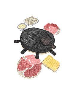 #음식 #그림 #일러스트레이션 #일러스트 #raclette #cheese #fromage #food #nourriture #draw #french #frenchfood #drawing #digital #sketch #fastdraw #dessin #cuisine