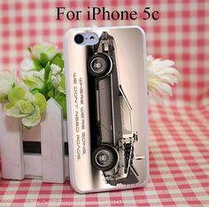 Delorean Back To The Future Hard White Cover Case for iPhone 4 4s 5 5s 5c 6 6s Protect Phone Cases