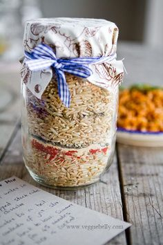 Cajun Dirty Rice Mix in a Jar. Homemade Holiday Gift Ideas for Vegetarians.