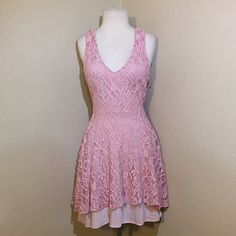 Pretty in Pink!!  *BRAND NEW beautiful pink lace dress!!  Pins & Needles Dresses