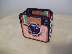 Instagram inspired box hama perler beads by beadstoterabithia
