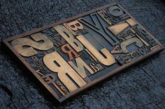 ✘ Giant Old Wooden Printing Drawer Block Letterpress Font Type Letters Display | eBay