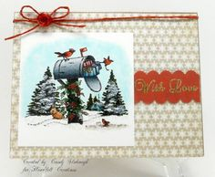WINTER MAILBOX SCENE by Candy S. - Cards and Paper Crafts at Splitcoaststampers