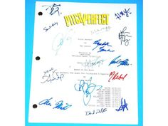 Pitch Perfect Signed Script Anna Kendrick, Anna Camp, Brittany Snow, Rebel Wilson and more