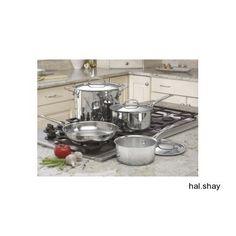 Cuisinart 77-7 Chef's Classic Stainless 7-Piece Cookware Set~Pots~Pans