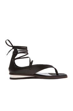 Stella McCartney Lace Up Sandals in Black