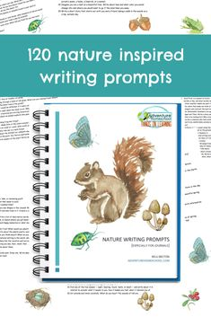 120 nature inspired writing prompts to help young writers thrive! If you have a nature journal or want to start one, having prompts to help you start writing will make a huge difference. Homeschool High School, Homeschool Curriculum, Homeschooling, Creative Teaching, Student Teaching, Writing Prompts, Start Writing, Frugal Family, Nature Study