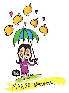 Mango shower Learn Drawing, Learn To Draw, Funny Dp, Drawing Cartoons, Painted Trays, Cute Comics, Visual Arts, Festivals, Chill