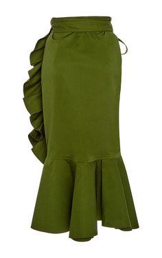 This **Alexis** Daniel Ruffled Skirt features a high rise waist, a wrap…