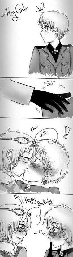 this is how Canada wishes Prussia a happy birthday!!!!