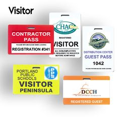 Using reusable visitor badge you can save a lot of cost. This visitor badges include our logo or seal as we desired.We can utilize our special design in this badge. We can have any background color and text as well as desired colors.