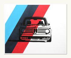 Classic Car Print - BMW 2002 Turbo - M Colors. $40.00, via Etsy.