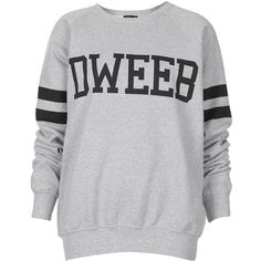 TOPSHOP Dweeb Sweat (5.155 ISK) ❤ liked on Polyvore featuring tops, hoodies, sweatshirts, sweaters, shirts, topshop, grey marl, cotton sweat shirts, striped shirt and grey striped shirt