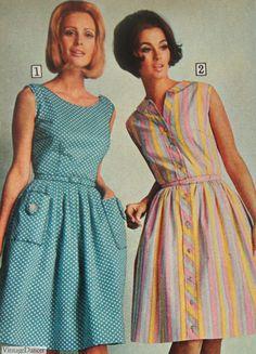 60s And 70s Fashion, Mod Fashion, Vintage Fashion, Fashion Ideas, 1960 Dress, Retro Dress, Vintage Dresses, Vintage Outfits, 60s Dresses