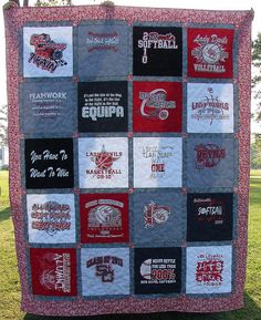 t-shirt quilt - maybe for my coveted Carolina TShirt Collection?