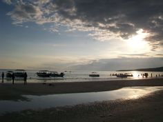 Bira beach in the afternoon,the fishing dock on the waterfront :D
