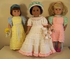 """Spring is in the Heart -18"""" doll - Free Original Patterns - Crochetville"""