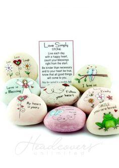 Love Stones - Good Luck Rocks for Encouragement