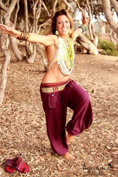 Aladdin Pants silk rayon harem yoga zen lotus hammer by HighThai