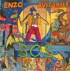 "Enzo Avitabile ""S.O.S. Brothers"" - EMI 1986 (LP) - Art by Andrea Pazienza"