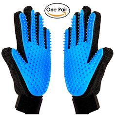 Pet Grooming Glove  Massage Tool Cleaning Shower Brush Hair Remover Glove Long hair short hair Pets for DogsCatsHorsesall Pets by MeetestOne Pair 2017 New Version *** See this great product. (This is an affiliate link)