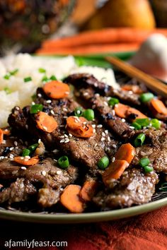 Bulgogi - A delicious version of Korean Beef Barbecue that anyone can make at home using commonly-found ingredients.