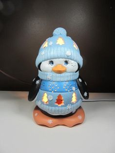 Penguin to light up your life by TeresasCeramics on Etsy, $35.00