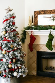 how to diy a pretty christmas garland for your mantel christmas christmasdecor mantel