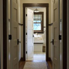 Dark Trim Design Ideas, Pictures, Remodel, and Decor Contrasting trim and floor colors. With wood trim and wood floors and with painted trim and wood too. So, definitely give it a gander. @Heidi Dokulil