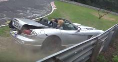 Dodge Viper Crash Video - Wall Hit at Nurburgring