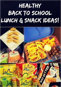 Healthy Back to School Lunch and Snack Ideas - I need to make sure my boys stay energized throughout the school day so I am very picky when it comes to snacks and lunches that I pack for them.  Here are some of my favorites!