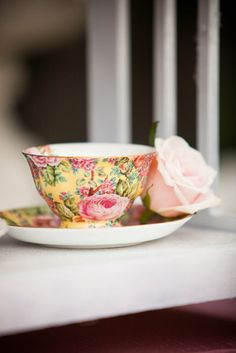 Beautiful chintz tea cup and saucer!