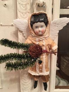 Watte Kind Engel,Wattefigur ,jdl,shabby,Porzellankopf CBS 17 cm Weihnachten   eBay