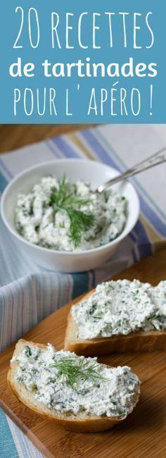 Au chèvre, au radis, au concombre : 20 recettes de tartinades pour l'apéro ! ♥ #epinglercpartager