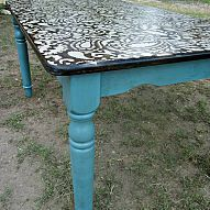 Recently I've stenciled a couple of dining room tables that have been… :: Hometalk