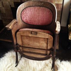 Cast iron, wood and corded velvet. Reserve label still visible. Old Soul, Tub Chair, Lyon, French Antiques, Cast Iron, Childrens Books, Theatre, Armchair, Label
