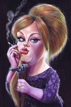 Adele  Caricature Art