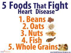 5 Foods that Fight Heart Disease #heartdisease #health