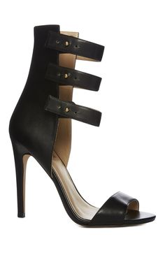 An Attractive Limited Black Peep Toe Strap Heel For Primark Ladies