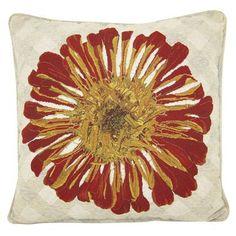 $19.99  Red Zinna - Woven Floral, KE Pillow -- Target.com
