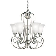 Buy the Kichler Brushed Nickel Direct. Shop for the Kichler Brushed Nickel Willowmore Single-Tier Mini Chandelier with 5 Lights - Chain Included - 17 Inches Wide and save. Chandelier Ceiling Lights, Mini Chandelier, Chandelier Shades, Room Lights, Small Chandeliers, Ceiling Fans, Cottage Lighting, Home Lighting, Houses