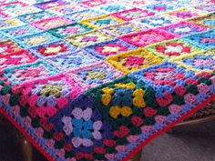 Crochet Afghan Blanket Handmade Patchwork Granny by Thesunroomuk, £125.00