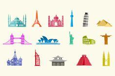 16 City Landmark Icons by Creative VIP on Creative Market